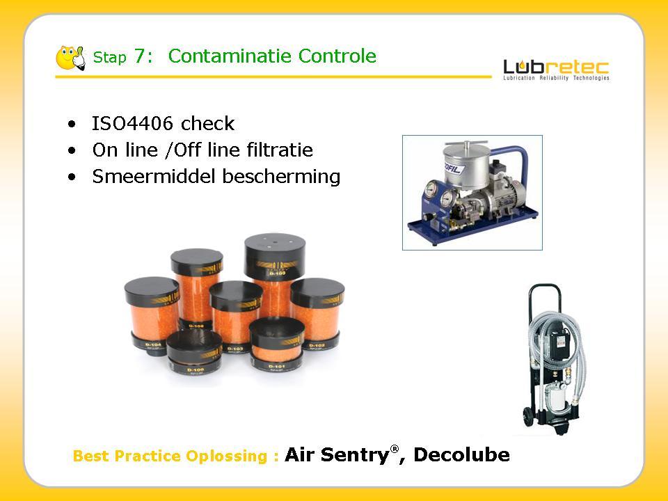 Lubrication Reliablity : contaminatie controle en vermijden dmv beluchters & filtratie