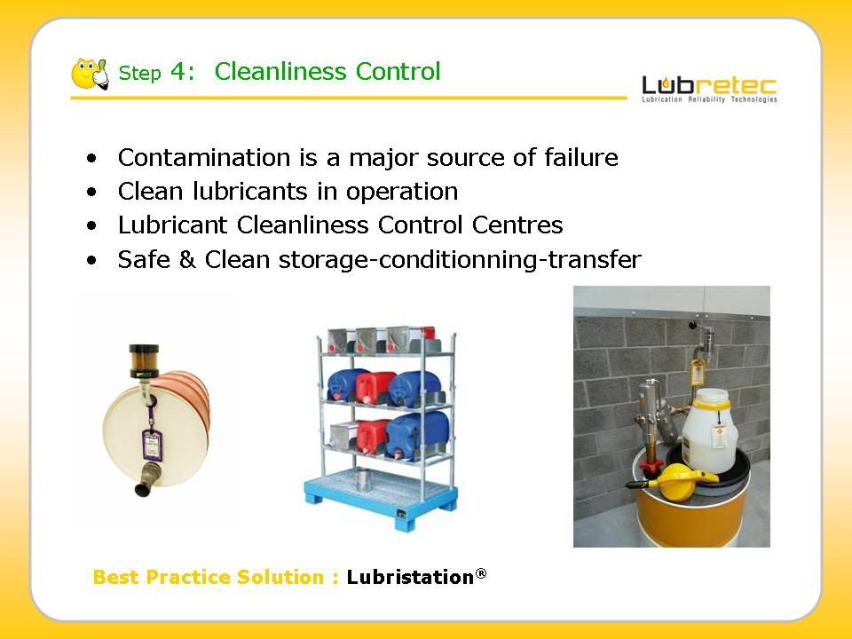 Lubrication Reliability : cleanliness or contamination control , Lubristation oil  bulk storage systems
