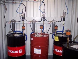 Lubristation R lube room installation with Air Sentry or Lubesec, Filters, Oil Safe , Label Safe