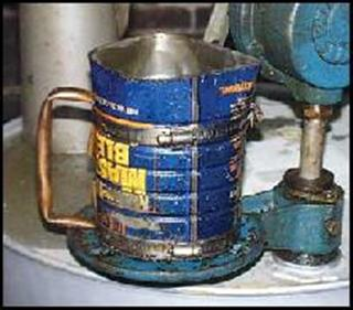 Lubricant Transfer & distribution wrong method. Beter use Oil Safe cans