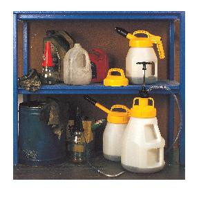 Example Oil Safe oil cans , drum, lid, pump, and bad examples