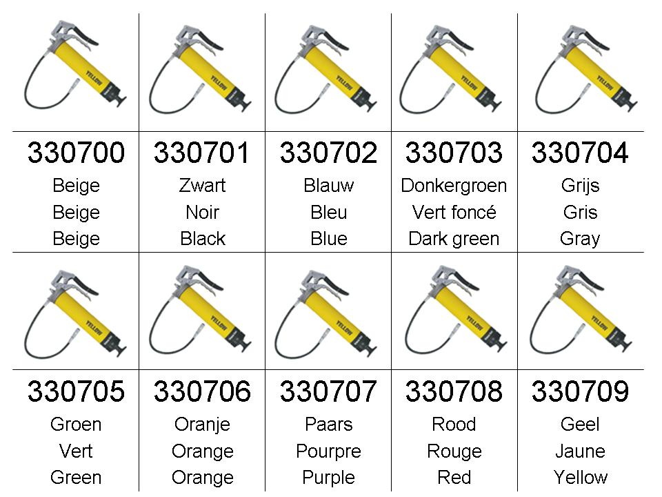 Gresae Safe Pistoolvetpomp 10 kleuren