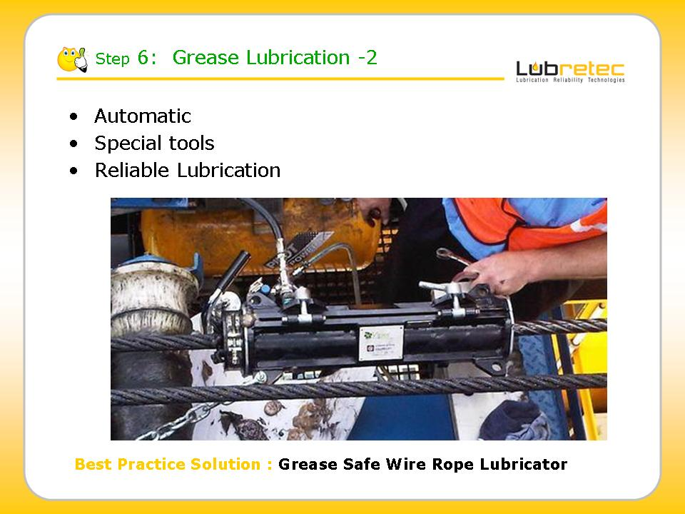 Lubrication Reliability : greaseing tools automatic single point lubricators, wire rope lubricator,