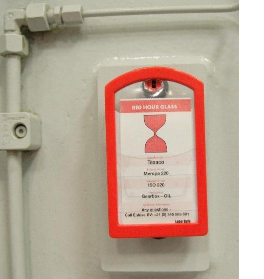 Label Safe : uitgebreid systeem voor smeermiddelidentificatie en kleurcodering olies.