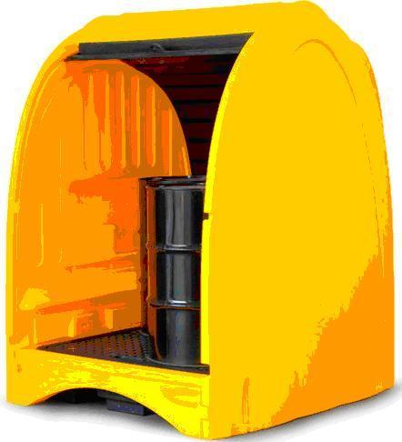 4 Drum Storage Cabinet Outdoor Lubretec Bvba