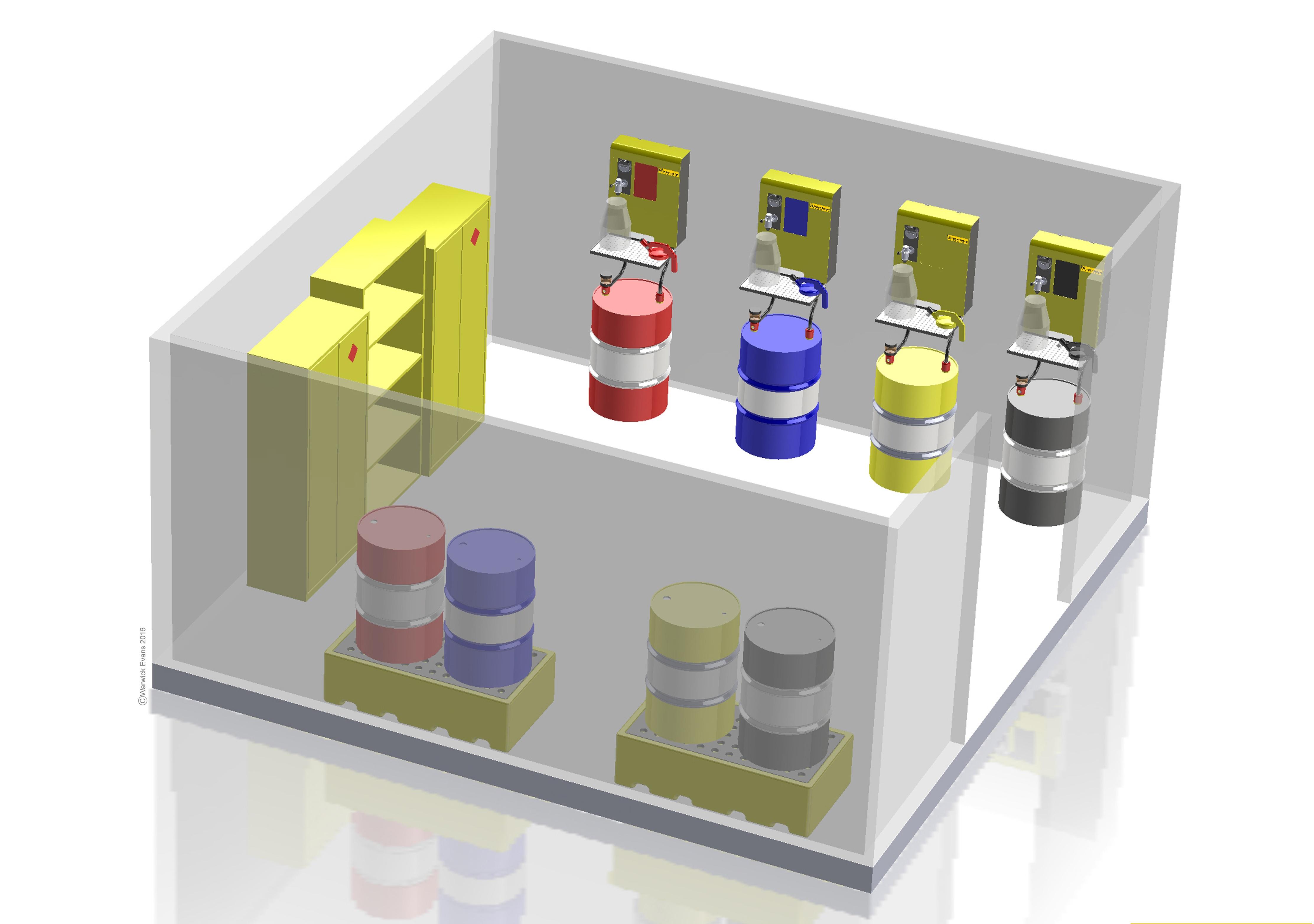 Alu Maaden Luberoom design Lustor Lubrication Storage system