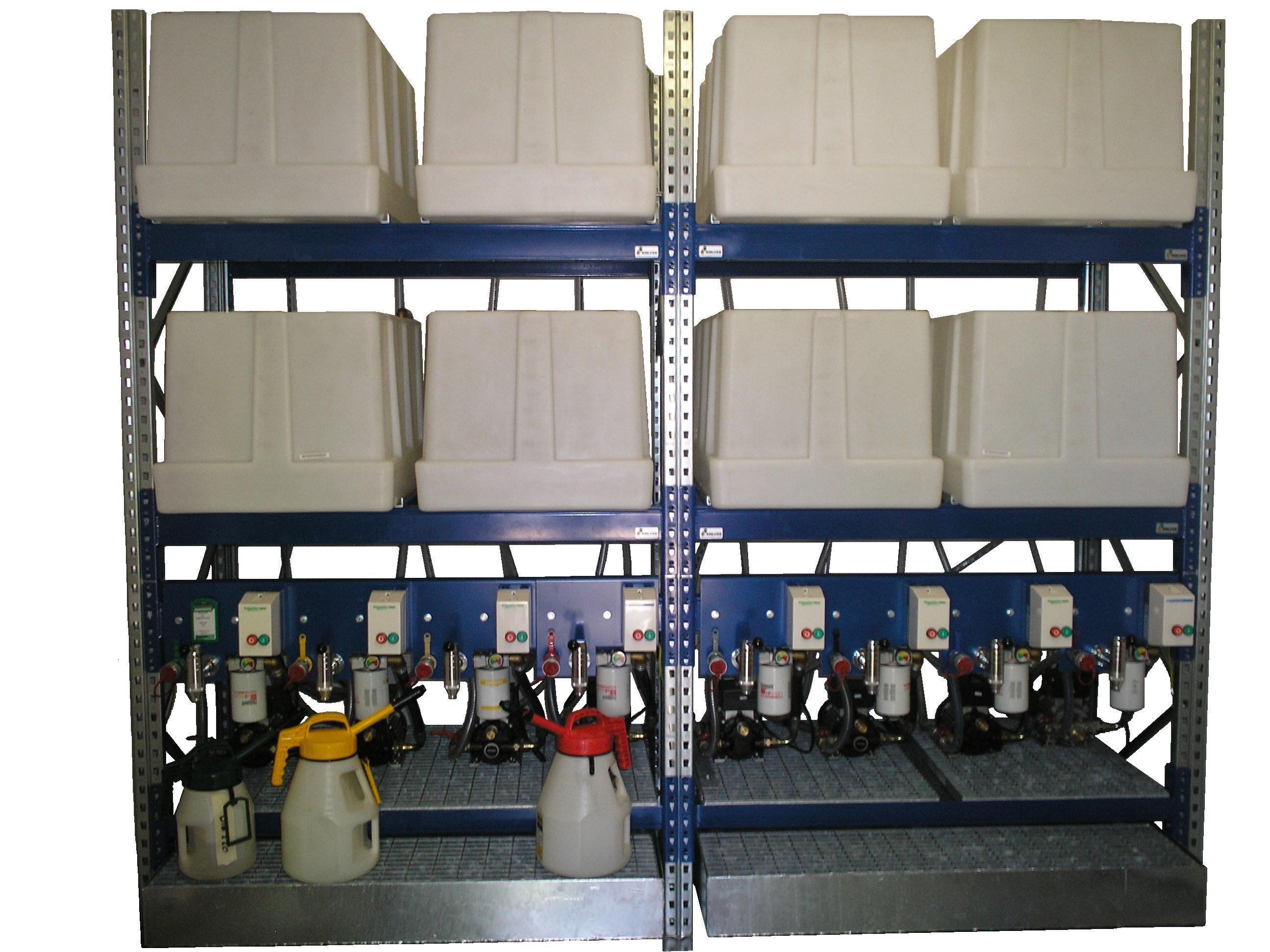Lubristation Oil Storage- oplag smeermiddelen