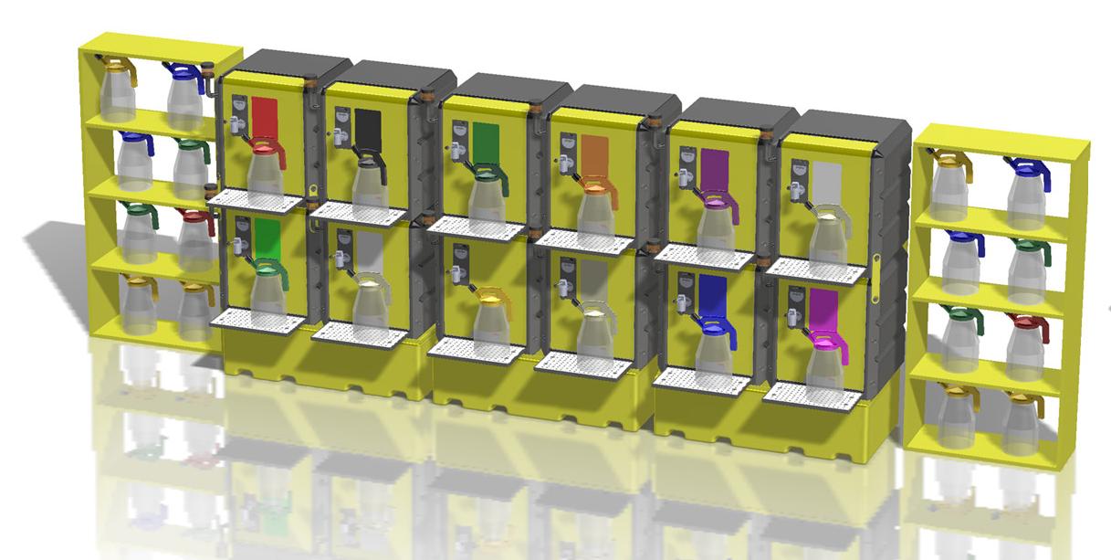 Lustor 12 lubricants storage system