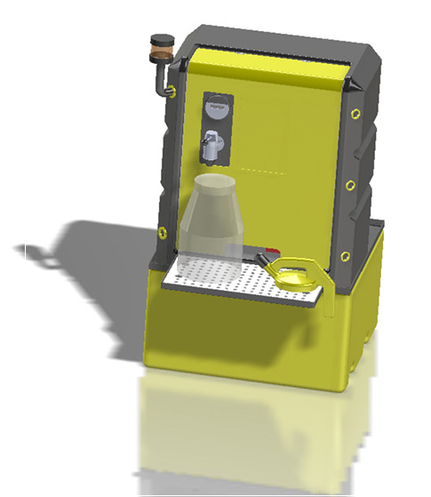 Lustor System LS125 storage system for lubricants, oils etc.